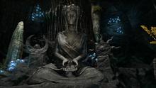 Статуя Азуры в пещере воплощения