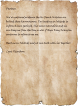 Letter from Lyris