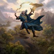 Falling Wizard card art