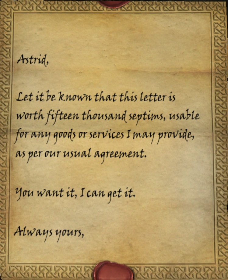 letter from a friend skyrim letter of credit skyrim elder scrolls fandom powered 41451