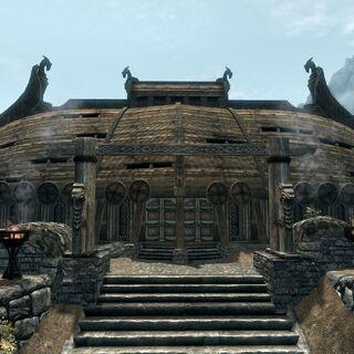 Jorrvaskr - siedziba Towarzyszy