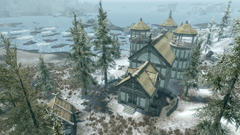 how to build home in falkreath no option from telka