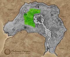 Карта Сиродила - Великий лес