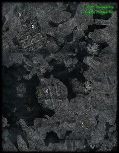 Пещера Отвесный Утёс - башни - план