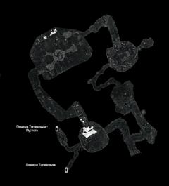 Пещера Толвальда - Перекрёсток - план