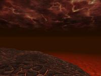 Арквед (оазис) - море лавы и раскалённая земля