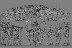 Рисунок из зала историй древней нодской гробницы