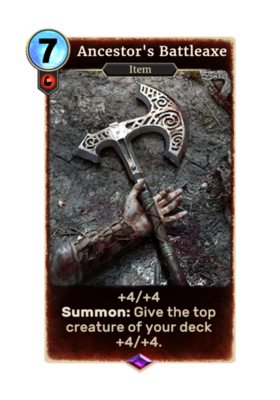 Секира предков (Card)