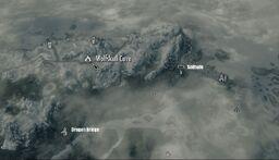 Skyrim map Wolfskull cave
