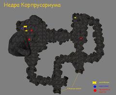 Недра Корпрусариума (план локации)
