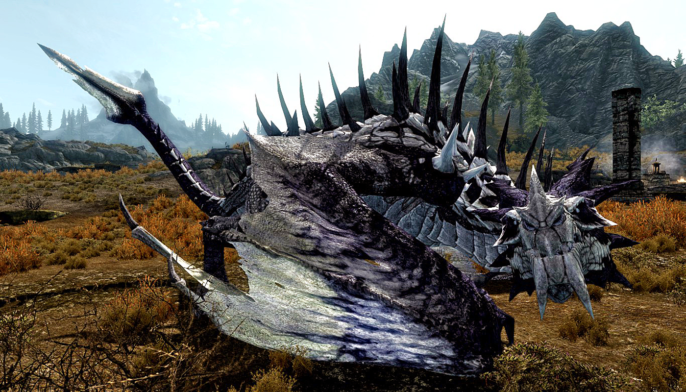 Image result for skyrim dragon