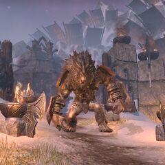 Gigantyczny troll z gry The Elder Scrolls Online