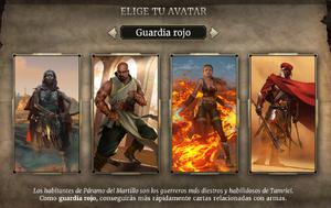 Avatar guardia rojo