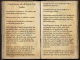 Confessions of a Khajiiti Fur Trader