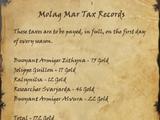 Molag Mar Tax Records