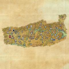 Дешаан-Дорожное святилище Западного Нарсиса-Карта