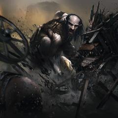 """Karta """"Gigant z Miażdżyciela"""" z gry The Elder Scrolls Legends"""