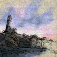 Нарисованный маяк Анвила