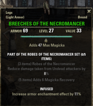 Robes of the Necromancer - Breeches 27