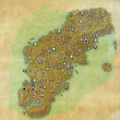Гленумбра-Дорожное святилище Даггерфолла-Карта