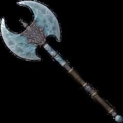 Stalhrimowy Topór Bitewny, broń wytworzona ze Stalhrimu