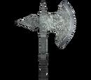 Silver Battle Axe (Oblivion)