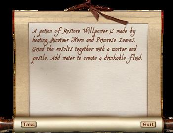 Restore Willpower