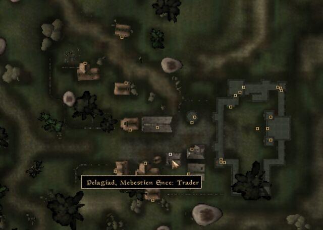 File:TES3 Morrowind - Pelagiad - Mebestien Ence Trader - location map.jpg