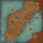 Glenumbra Concept Art Map