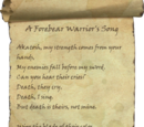 A Forebear Warrior's Song
