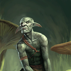"Karta ""Goblin z Błot"" z gry The Elder Scrolls: Legends"