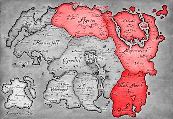 Patto di Ebonheart mappa