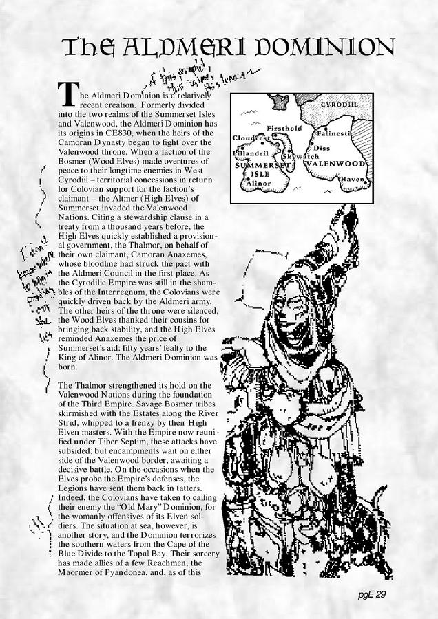 Pocket Guide to the Empire, First Edition Aldmeri Dominion