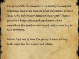 Smuggler's Note (Forgotten Crypts)