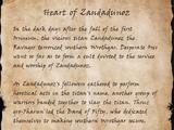 Heart of Zandadunoz (Book)