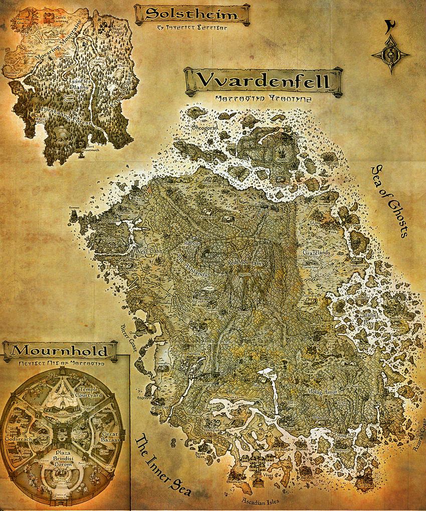 Morrowind Regions Map