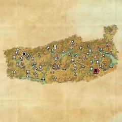 Дешаан-Пещеры Тёмных теней-Карта