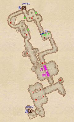 Крепость Андерпалл - Южное крыло. План