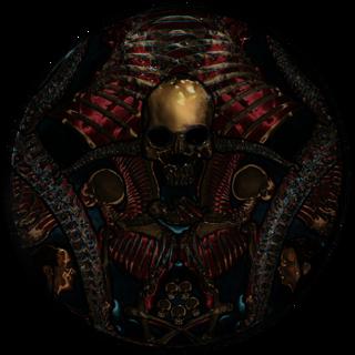 Witraż reprezentujący Sithisa z gry The Elder Scrolls V: Skyrim
