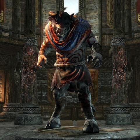 Domihaus Krwawo-rogi przywódca klanu Minotaurów związany więzami krwi z plemieniem Pograniczników z gry The Elder Scrolls Online