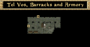 Tel Vos, Barracks and Armorys - Interior Map - Morrowind