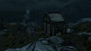 Горный приют - ночной вид