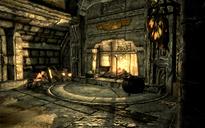 Casa del supervisor del horno de fundición chimenea