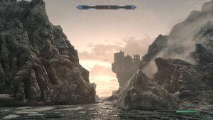 Accadamia di Winterhold da lontano