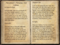 Adventurer's Almanac, 2nd Edition page 1.png