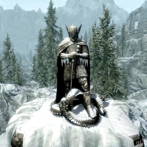Posąg Talosa z gry The Elder Scrolls V: Skyrim