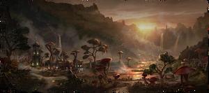 Пейзаж в Бал Фойене (концепт-арт)