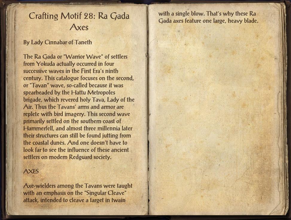 Crafting Motif 28: Ra Gada Style | Elder Scrolls | FANDOM