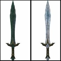 Desgarradora gélida Espada de cristal comparacion