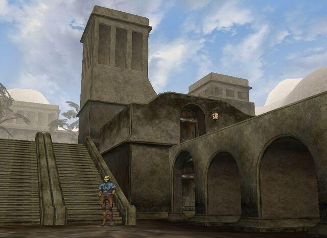 File:TES3 Morrowind - Balmora - The Razor Hole exterior.jpg